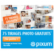 PIXUM : 75 tirages photo gratuits !